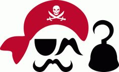 Silhouette Online Store: pirate photobooth props...Rivka's Renditions / Rivka Wilkins