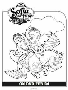 Coloriage princesse sofia et ambre deco enfants - Coloriage princesse ambre ...