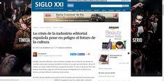 """ARTÍCULO """"LA CRISIS DE LA INDUSTRIA EDITORIAL ESPAÑOLA PONE EN PEÑLIGRO EL FUTURO DE LA CULTURA""""."""