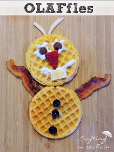 Frozen Movie Breakfast... Olaf Waffles | Crafting in the Rain