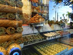 Vitrine, showcase, doces turcos, Turquia, Turkey, Turkije