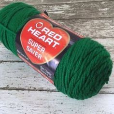 Red Heart Super Saver Yarn Worsted Weight Paddy Green 0368 New