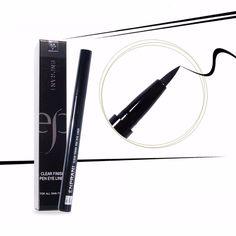 Enprani Clear Finish Brush Pen Eye Liner Black #Enprani