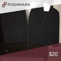 Black pinstripe suit Black pinstripe suit ordered from Victoria's Secret. Brand is MODA. Moda International Other