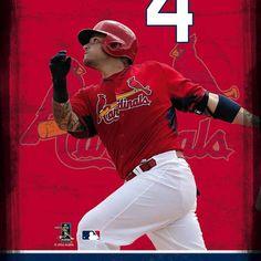 Yadier Molina #4 St.Louis Cardinals Action Shot