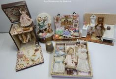Tiny Dolls, Miniature Dolls, Box, Frame, Decor, Porcelain, Picture Frame, Snare Drum, Decoration