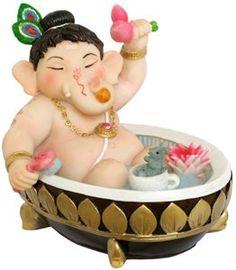 Lord Ganesh happy at bath