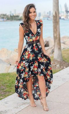 43 amazing upcoming casual style looks copy today vestidos p Beach Dresses, Cute Dresses, Beautiful Dresses, Summer Dresses, Floral Dresses, Elegant Dresses, Sexy Dresses, Floral Maxi, Moda Floral