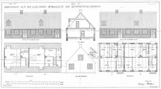 Bakkehusene, Danmarks første rækkehuse, er blandt de tegninger, som er blevet slettet.