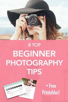 Beginner Photography Tips | Easy and actionable tips to get your started learning your DSLR! Click through for tips and FREE printables for beginners!