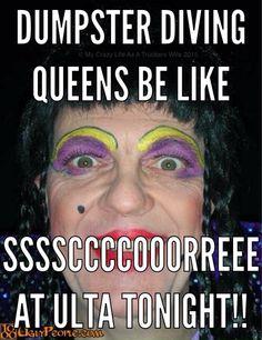 Dumpster diving queens be like score at Ulta