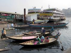 Boats of all sizes congregate at Sadarghat on the Buriganga River in Dhaka, Bangladesh. Gypsum Decoration, Gypsum Wall, Dhaka Bangladesh, Ceiling Rose, Boats, Culture, River, Landscape, Gallery