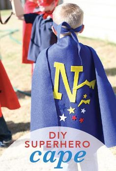 If your little boy is full of imagination and loves dressing up, then this DIY superhero cape is a must make!