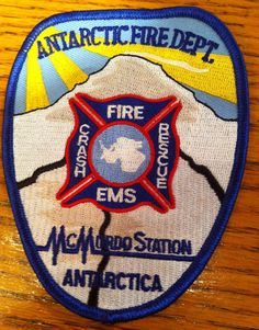 http://www.GraphicDesignNYC.net Antartica Fire Dept Patch