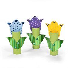 Easy diy with toilet paper tube. 3D Flower Craft Kit - OrientalTrading.com