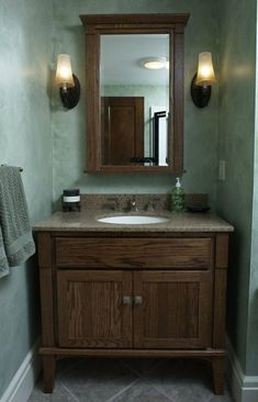 Half Bath With Furniture Style Vanity By Mcclurg Remodeling Construction Services