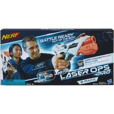 Nerf Laser Ops Pro AlphaPoint 2 Pack | BIG W Nerf, Packing, Xmas Ideas, Big, Bag Packaging