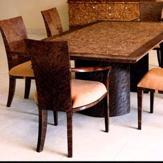 A gorgeous coconut shell dining room set by Dsign.