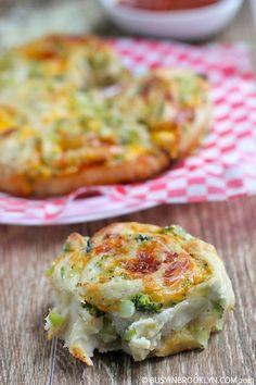 3-Cheese Broccoli Pull-Apart Buns