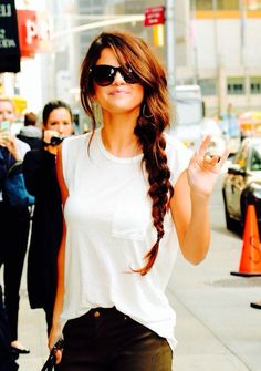 Celeb Hairstyle of the Week- Salena Gomez braided hair. Love her look <3  REPIN if you love it too...