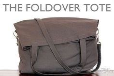 Sewing Tutorials Free The foldover tote: free tutorial for a fun bag that carries a lot or just a little! Purse Patterns, Sewing Patterns, Tote Pattern, Wallet Pattern, Diy Sac Pochette, Sewing Tutorials, Sewing Projects, Beginners Sewing, Tote Tutorial