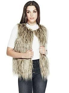Michela Faux-Fur Vest | GUESS.com