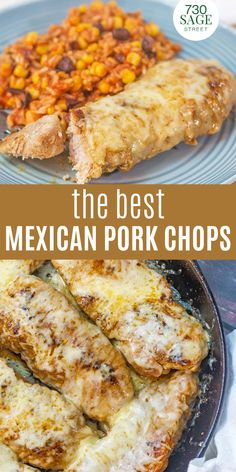 These Mexican pork chops are easy to make and go great with a side of homemade Mexican rice or Mexican cauliflower rice. Versatile and delicious!#easyrecipes #dinner #porkchops #ketorecipes #onthetable Best Keto Meals, Best Low Carb Recipes, Low Carb Chicken Recipes, Low Carb Dinner Recipes, Pork Chop Recipes, Mexican Food Recipes, Great Recipes, Keto Recipes, Mexican Pork Chops