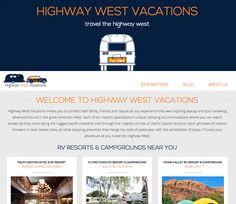 Highway West Vacations RV Resort Website Design