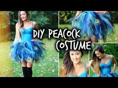 Easy DIY Peacock Halloween Costume | LaurDIY - YouTube