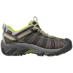 Keen Women s Voyageur Shoe - 7 - Neutral Grey   Lime Green Sock Shoes 8a75a215551