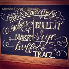 Wedding reception chalkboard sign by Anchor Port Calligraphy