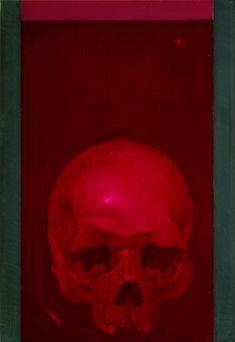 Vanitas, olio su ardesia, 30 x 20 cm, 2016 (collezione privata)