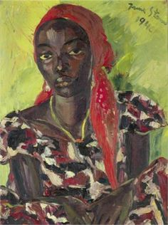 Irma Stern South African), Congolese Beauty, Oil on canvas, x cm. American Art, African, Artist, Painting, Female Art, Illustration Art, South African Art, Art History, South African Artists