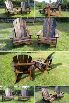 Pallet Patio Adirondack Furniture Set