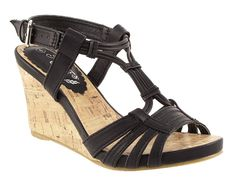Natures Own Cork Effect Wedge Sandals - Barratts Shoes