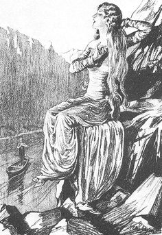 Lorelei is the famous singing ghost that sits on a tall rock on the right bank of the Rhine in Hesse-Nassau, but the White Lady of Hohenzollerns is much more mobile. She has appeared in castles all over Germany, including Neuhaus, Berlin, Bechin, Tretzen, and Raumleau.