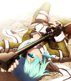 anime, sword art online, and sao 이미지 Asuna, Sinon Ggo, Kunst Online, Online Art, Shino Sao, Persona Anime, Tous Les Anime, Asada Shino, Gun Gale Online