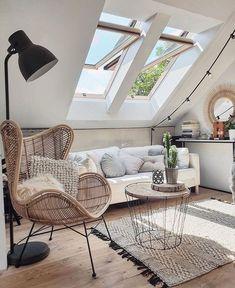 """KROQY on Instagram: """"Hello 🌿 ⠀ Dernièrement, Chloé, notre architecte d'intérieur parisienne a transformé les combles d'une maison en un superbe salon cocooning.…"""""""