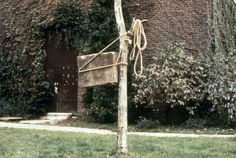 charles ray. 1973. 1 ton marble block tied to a tree. dimensions variable