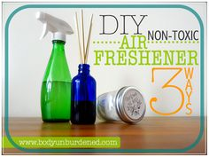 "Most store bought ""air fresheners"" are actually filled with chemicals and contribute to indoor air pollution. Learn how to make 3 DIY, non-toxic, natural, healthy alternatives."