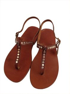 GENUINE LEATHER Handmade Sandals for woman  Penar by BODRUMSANDALS, $80.00