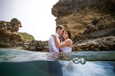 First time attempting underwater photography. Trash the Dress / Drown the Gown Session - Jade Mountain, St. Lucia