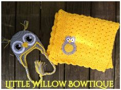 0++3+month+grey+gray+yellow+crochet+owl+by+littlewillowbowtique