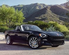 2017 Fiat 124 Spider -- On the 50th anniversary of its release, Fiat's 124 Spider will be reborn for 2017 in an all-new model. Built on the chassis of the new Mazda MX-5 Miata, the revived Spider features classic body lines and a leather-clad interior. It's rear-wheel drive & powered by a 1.4-liter, 160-horse 4 & your choice of a 6-speed manual or automatic tranny.