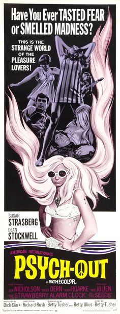 Psych-Out (1968) (dir. Richard Rush) #exploitation #psychedelic #movieposters