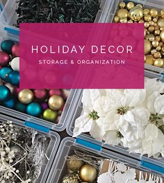 34 Holiday Decor Storage & Organization Tips is part of Holiday decor Storage - Just when you thought you were done hearing and seeing anything Christmas related, I am here to mention it one last time (for awhile anyway) Holiday Storage, Christmas Storage, Halloween Door Decorations, Christmas Decorations, Tree Decorations, Holiday Fun, Christmas Holidays, Xmas, Christmas Tree