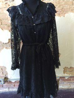 Wealthy Widow black lace dress www.therufflifelingerie.com
