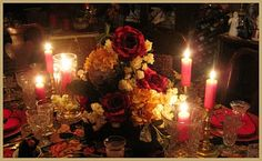Valentine's Day romantic table setting