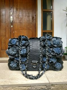 Navy blue black leather Leather Bag, Black Leather, Ethnic, Navy Blue, Belt, Photo And Video, Accessories, Instagram, Fashion