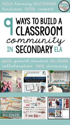Nine English teachers share how they build a classroom community with middle and high school ELA.